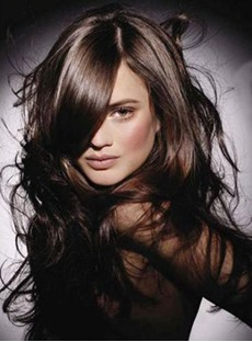 Hot Sale Lace Front Long Wavy 100% Human Hair 20 Inches Layered Hot Sale Wig