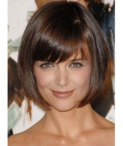 Super Sweet Bob Hairstyle Natural Brown Wig For Sweetheart