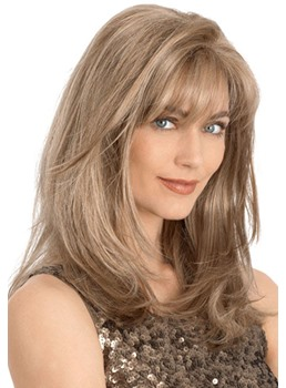 Perfect Long Loose Wavy Synthetic Hair Monofilament Wig 16 Inches