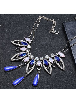 Blue Gem Pendant Necklace