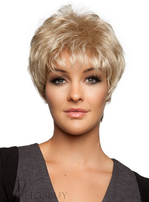 Short Slightly Fluffy Wispy 8 Inches Bang Pixie Hairstyle