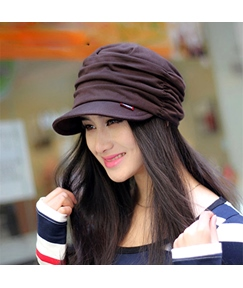 Wrinkled with Brim Women's Hat