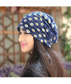 Floral Printed with Lace Women's Hat