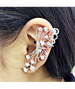 Elegant Butterfly Shaped with Rhinestone Ear Cuff
