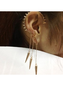 Punk Sharp Style with Tassel Alloy Ear Cuff