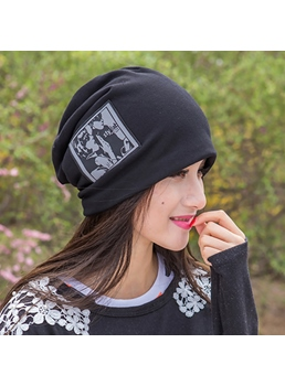 Pattern Printed Cotton Women's Hat