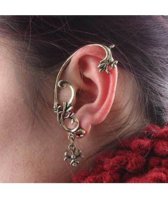 Vintage Floral Shaped Alloy Ear Cuff