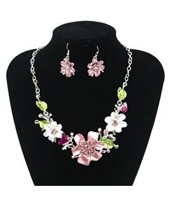 Delicate Floral Shaped Alloy Jewelry Set