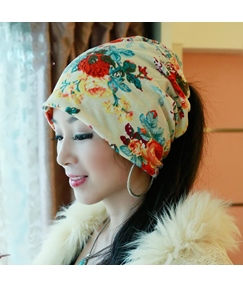 Blooming Flower Printed Women's Hat