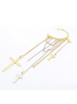Punk Style Cross Pendant Alloy Ear Cuff