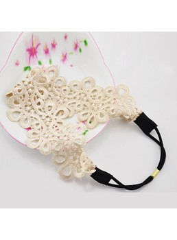 Graceful Lace Decorated Headband