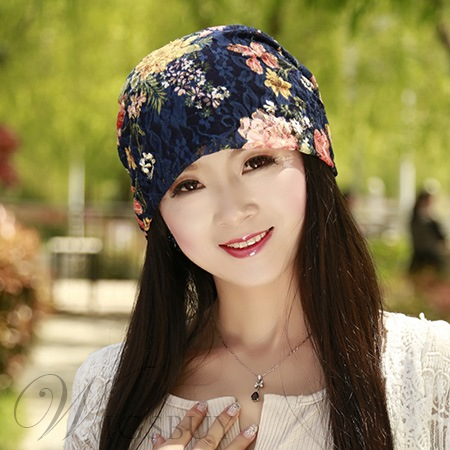 Floral Printed Women's Warm Hat