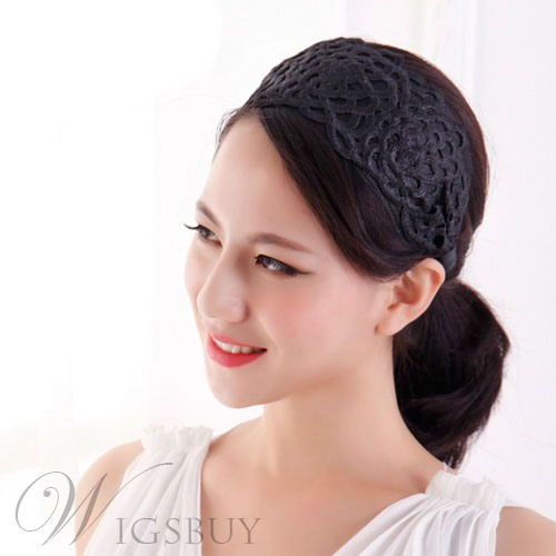 Vintage with Lace Wide Headband
