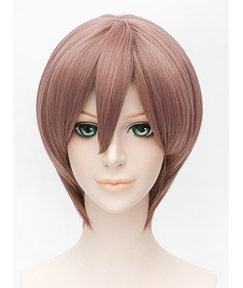 Cosplay Japanese Anime The Wolf Ggirl with the Black Prince Short Straight Wig