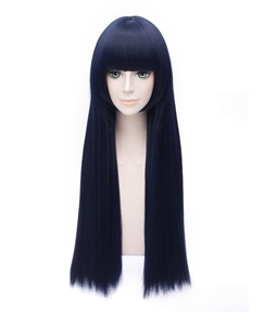 Sora no Method Style Long Straight Black-blue Wig 32 Inches