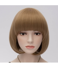 Cute Brown Bob Hairstyle Anime Festival Cosplay Party Wig 10 Inches