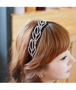 Leaf Pattern Decorated Headband