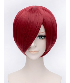 Fashional Bob Hairstyle Cosplay Short Winered 12 Inches Wig