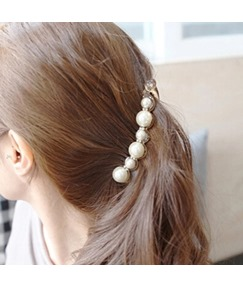 Fashion Beads Decorated Hairgrip
