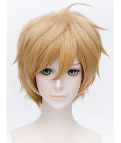 Tamako Market Ooji Mochizou Cosplay Golden Short Wig 12 Inches