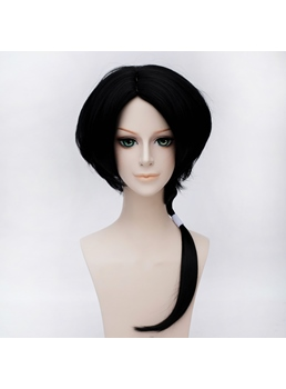 Kashuukiyomitsu Style Black Medium Wig 18 Inches Cosplay