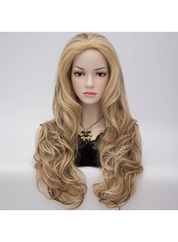 New Fashion Long Wavy Brown Hair Party Wig 28 Inches
