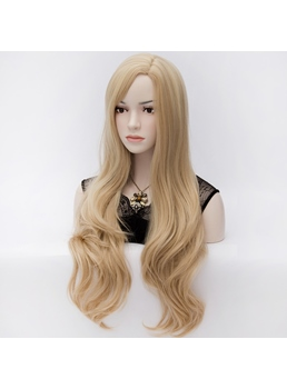 Quality Celebrity Fashion Natural Wavy Heat-Resistant Long Hair Wig 28 Inches
