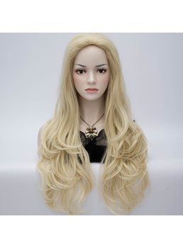 European-Style Long Wavy Layered Cosplay Party Wig 24 Inches