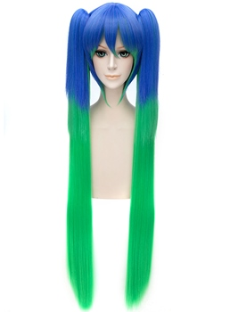 Vocaloid Style Cosplay Blue and Green Long Wig 40 Inches
