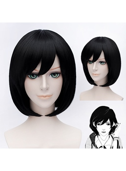 Lovely Black Short 12 Inches Wig for Cosplay