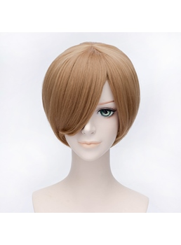 Cosplay Card Captor Sakura Short Straight Linen Wig 12 Inches