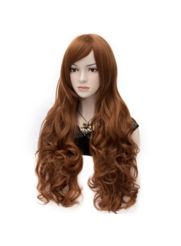 Sexy Anastasia Rich Brown Super Long Wavy Wig 32 Inches