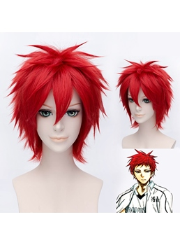 Cosplay Akashi Seijuro Short Red 12 Inchees Wig
