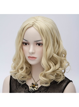 Glamorous Office Lady Medium Long Curly Wig 14 Inches