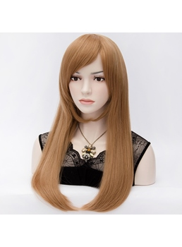 Kaye Middle Length Light Brown Straight Hair Wig 24 Inches