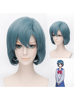 Sailor Mercury Cosplay Short Wig 12 Inches