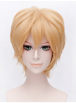 Sata Kyouya Cosplay Golden Short Wig 12 Inches