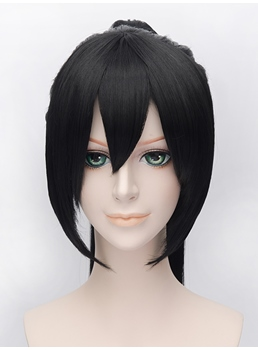 Vocaloid Cosplay Black Long Wig 14 Inches