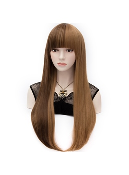 Fashionable Long Straight Lolita Two-Tone Full Party Wig 28 Inches