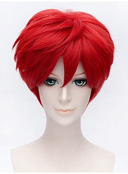 Mikoshiba Mikot Hairstyle Short Red 10 Inches for Cosplay