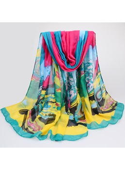 Chic Pattern Printed Voile Scarf