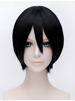 Shimura Shinpachi Style Short Black Wig 12 Inches