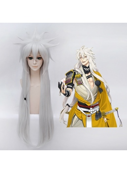 Cosplay Kogitsunemaru Long Straight Sliver Wig 38 Inches