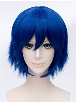 Cosplay Kuronuma Aoba Short Blue 12 Inches Wig