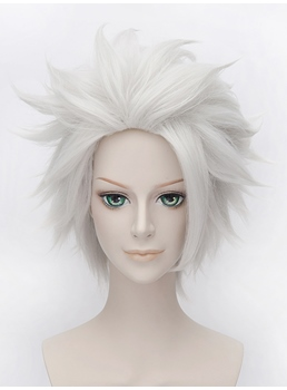 Bleach Hitsugaya Toushirou Cosplay Sliver Short Wig 12 Inches