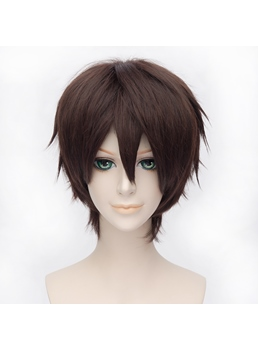 Cosplay Okita Souji Short Brown 12 Inches Wig