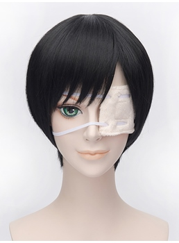 Tokyo Ghoul Cosplay Short Bob Black Wig 12 Inches