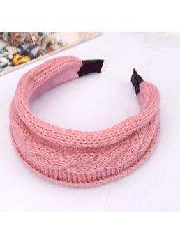 Woolen Yarn Decorated Hair Band