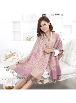 Chic Jacquard Weave Women's Scarf