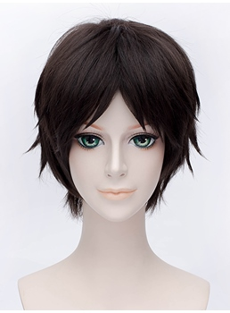 Attack on Titan Eren Jaeger Cosplay Short Straight Wig 12 Inches
